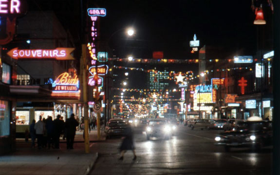 Downtown Windsor At Night – 1965