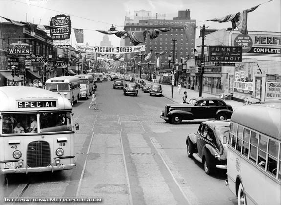Downtown Windsor Early 1940's